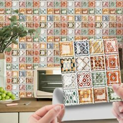 10 Pieces 3D Retro Mosaic Crystal Tile Wall Stickers Decoration Home Decoration $7.18