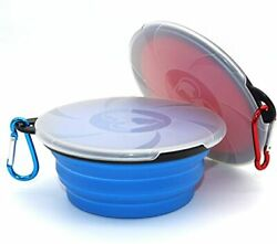 Collapsible Dog Bowl2 Pack Portable and Foldable Pet Travel Bowls Collapsible $11.99