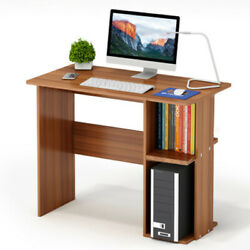 Folding Computer Desk 2 layer With Shelf Writing Study Table Home Workstation US $32.99