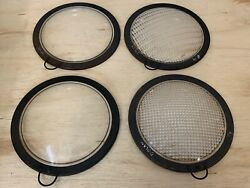 Antique Lenses for Stage Spotlight Set of 4 in Box 9quot; Diameter Diffusers $138.88