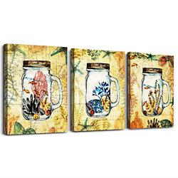3 Pieces Framed Wall Art for Living Room Bathroom Wall Decoration Kitchen Wall $42.18