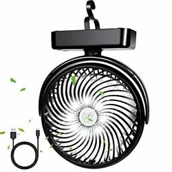 Portable Battery Camping Fan with LED Lantern Rechargeable 5000mAh Battery Opera $22.99