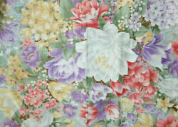LARGE SCALE TROPICAL FLOWERS 100% COTTON FABRIC $7.99