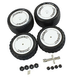 4Pieces RC Wheel Tires w Wrench for WLtoys 104001 On Off Road Buggy Upgrade $19.84