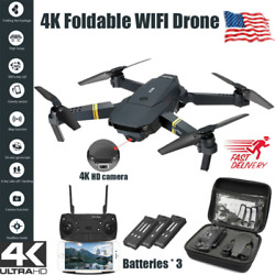 Drone X Pro WIFI FPV 4K HD Camera 3 Battery Foldable Selfie Quadcopter RC Drones $44.99