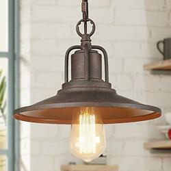 Rustic Farmhouse Pendant Lights Industrial Hanging Fixture for Kitchen Brown $76.23
