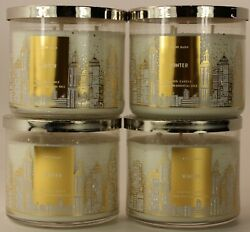 QTY 4 x Bath amp; Body Works White Barn Winter 3 Wick Scented 14.5 Oz Candle $44.95