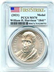 1841 William Harrison Presidential Silver Medal 2021 PCGS MS 70 First Strike $135.00