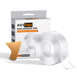 Stronger Adhesion 20FT Nano Tape Wall Tape for Pictures Transparent Removab $15.92