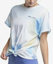 champion plus size tie front tie dyed T Shirt multi wash 2X MSRP$30 NWT $17.95
