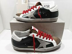 Golden goose Super star men#x27;s sneakers army green leather suede Sz 41 US 8 $295.00