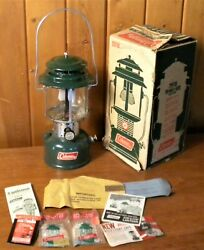 Vintage 1968 COLEMAN Two Mantle Camping Lantern 220F 228F with Box $44.14