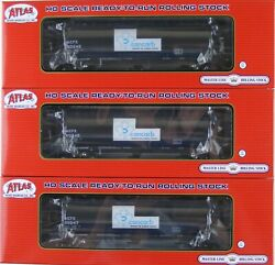 Atlas HO Scale 3 Bay Cylindrical Hopper Car Cancarb ACFX Lot of Three New $104.85