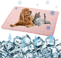 NWT Pet Products Cool Mat Dog Cooling Mat Portable Washable in Pink 28x22 $19.99
