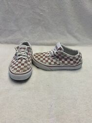 Vans Off The Wall Girls Pink white Checkerboard Shoes size 11.5 C $18.00