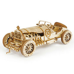 ROKR DIY 3D Wooden Puzzle 1:40 Handmade Toy Heavy Track Model Kids Gifts US $17.99
