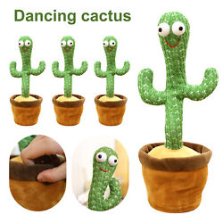 Dancing Cactus Plush Toy Electronic Shake With Song Funny Cute Toys kids Gift $15.99