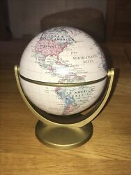 Small Terrestrial Globe Antique Style 14cm Swivels N amp; S and Along Equator GBP 14.00