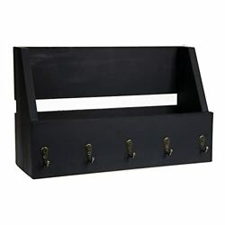 Ilyapa Key and Mail Holder for Wall Rustic Black $18.99