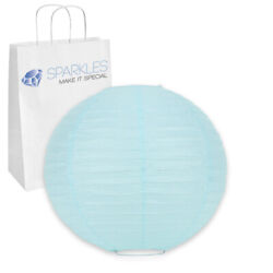 20 pcs 8quot; inch Chinese Paper Lantern Light Blue Wedding Party Event dh $16.99