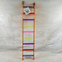 20quot; Parrot Ladder Acrylic Made by Center Stage Rainbow Acrylic Bird Toy NEW $14.99