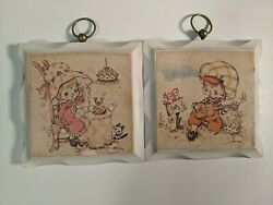 Vintage Homco Holly Hobby Wall Hangings Set of 2 Lot 925 $14.00