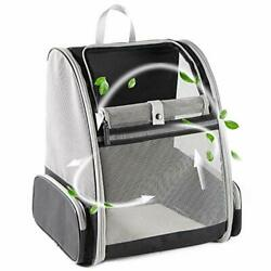 Texsens Innovative Traveler Bubble Backpack Pet Carriers for Cats and Dogs Grey $37.85