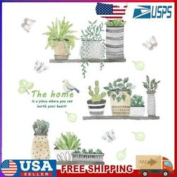 Removable Daily Waterproof PVC Plants Wall Stickers Home Kids Bedroom Decal $7.99