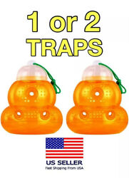 🌟Hanging Outdoor Wasp amp; Fly Trap For Yellow Jackets Hornets Non Toxic Reusabl $8.77