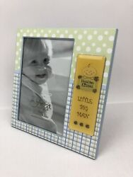Fetco Home Decor Hugs and Kisses Little Big Man Baby Photo Frame 4x6 New $9.95