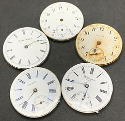 Pocket Watch Movement Lot Of 5 Antique Antique American Elgin Others F2331 $39.99