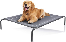 Elevated Dog Bed Extra Large Pet Cat Comfort Outdoor Durable Steel Breathable L $40.48