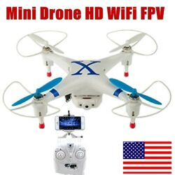 6 axis Mini Drone HD WiFi Fpv Air Quadcopter Helicopter RC Drone Remote Control $18.89