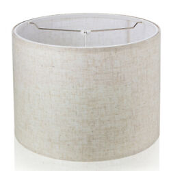 16quot; Large Drum Lampshade Modern Linen Shade for Table Lamp Floor Lamp Spider $36.99
