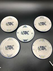 Vtg Set of 5 Home Sweet Home Plates Approx 7quot; Plates Made in Japan Blue Gray $34.95