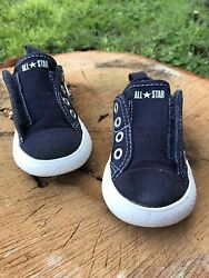 Converse All Star Boys Toddler sz 5 Navy Blue easy On off Closure Shoes $18.95