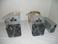 2 ANTMINER D3 WITH POWER SUPPLY CORDS CRYPTOCURRENCY COIN MINER $235.00