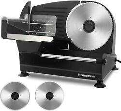 🌟7.5quot; Blade 200w Commercial Electric Meat Slicer Deli Machine Cuts Food Veggie