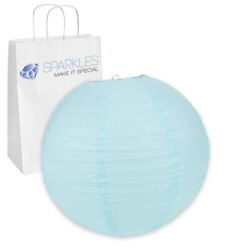 5 pcs 18quot; inch Chinese Paper Lantern Light Blue Wedding Party Event rf $11.74