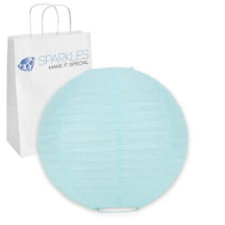 20 pcs 6quot; inch Chinese Paper Lantern Light Blue Wedding Party Event kl $14.99