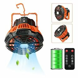 Portable LED Camping Fan with LED Lantern Rechargeable 5200mAh Battery ..... $14.57
