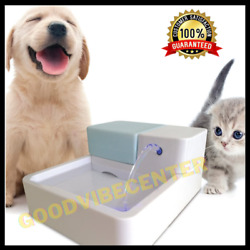 Pet Water FountainDog Cat Automatic Electric Drinking Bowl LED Light Filter $12.67