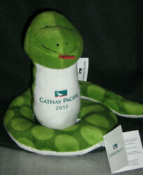 CX Cathay Pacific Airways 2013 Year of the Snake Plush Green Toy Airline w TAG $24.00