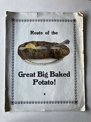 Vintage Northern Pacific Railroad Sheet Music quot;GREAT BIG BAKED POTATO quot; $19.00