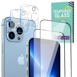For iPhone 12 11 13 Pro Max Tempered GLASS Screen Protector Camera Lens Cover $8.39