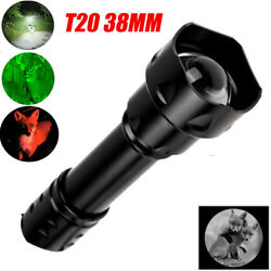 Zoomable 38MM LENS Green Red White IR 850nm 940NM LED Night Hunting Flashlight $18.04