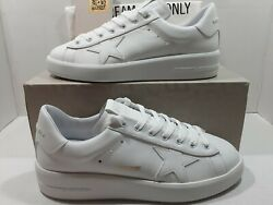 Golden goose Pure star men#x27;s sneakers white leather white heel Sz 43 US 10 $495 $269.00