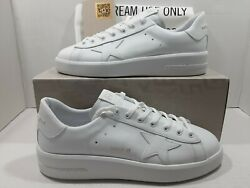 Golden goose Pure star men#x27;s sneakers white leather white heel Sz 44 US 11 $495 $269.00