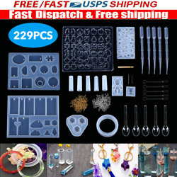 DIY Silicone Resin Casting Mold Keychain Jewelry Pendant Epoxy Craft Mould Tools $7.99