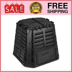 Garden Composter Bin Made from Recycled Plastic 110 Gallon Large Compost Bin $77.99